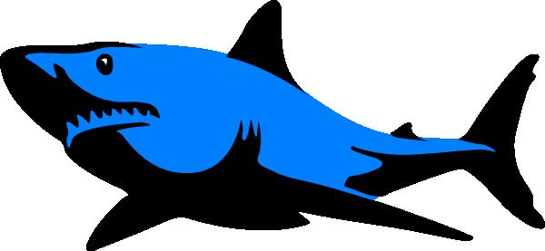 Blue.shark Clip Art at Clker.com - vector clip art online, royalty ...
