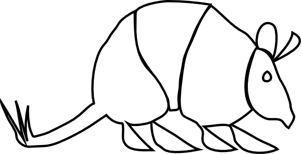 Cute Armadillo Clipart Armadillo clip art - vector