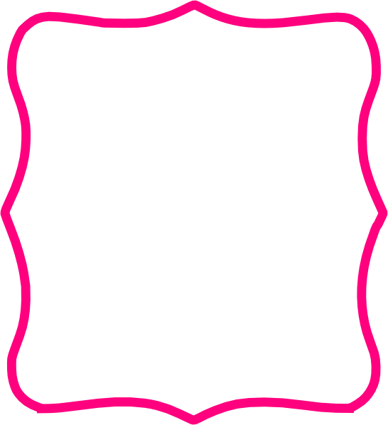 Hot Pink Frame Clip Art At Clker Com Vector Clip Art