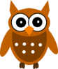 Brown Chic Owl Clip Art