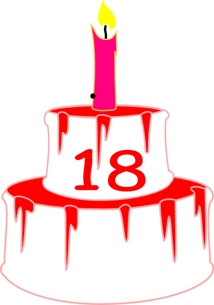 18bdaycake Candle 2 Clip Art At Clker Com Vector Clip
