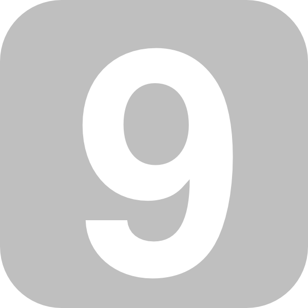 Number 9 Grey Clip Art At Clker.com