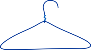 Clothes Hanger Clip Art at Clker.com - vector clip art online, royalty ...