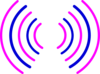 Radio Waves Pink And Blue Clip Art