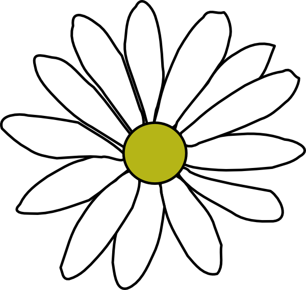 Simple Daisy Clip Art at Clker.com - vector clip art ...