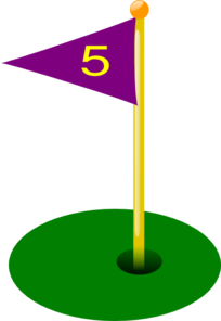 Golf Flag 5th Hole Clip Art