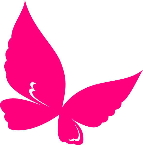 Butterfly outline pink. Clip art at clker