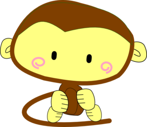 Brown Monkey Clip Art