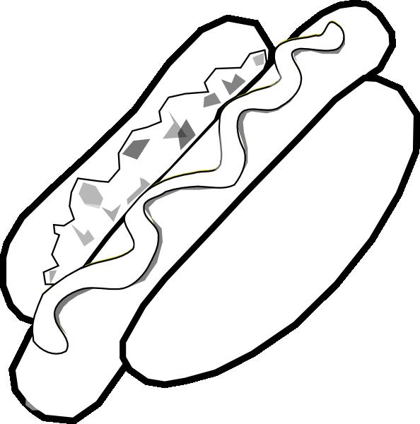 Jumbo Hot Dog Clip Art at Clker.com - vector clip art online ... French Menu Clipart
