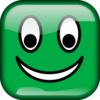 Green Smiley Square Clip Art