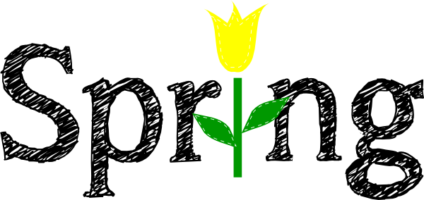 spring with yellow tulip clip art at clker com vector clip art rh clker com  first day of spring 2017 clipart