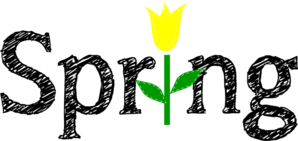 Spring With Yellow Tulip Clip Art