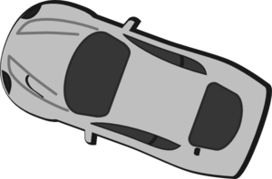 Gray Car - Top View - 160 Clip Art