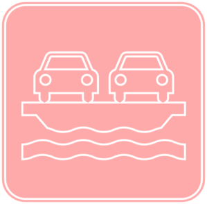 Pink Car Ferry Clip Art