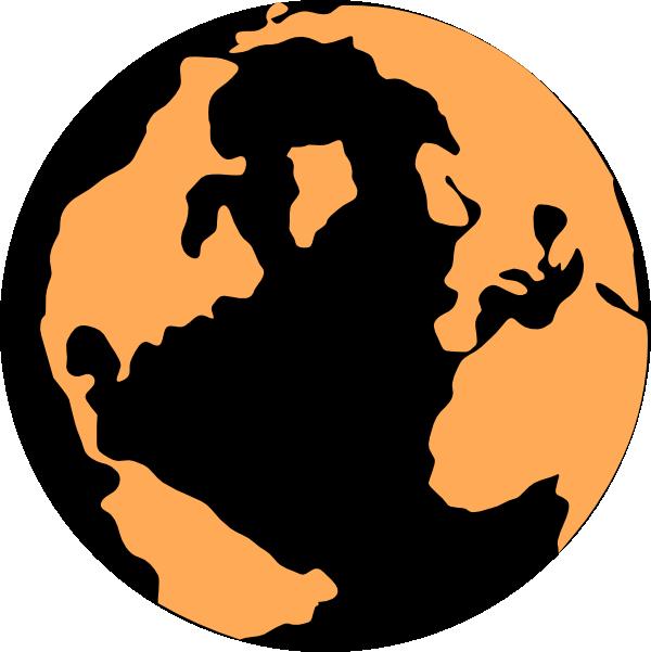 orange and black globe clip art at clker com vector clip art rh clker com  free world globe clipart black and white