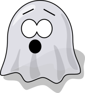 Scared Ghost Clip Art