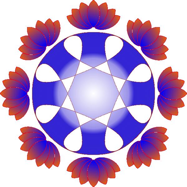 free blue lotus flower clip art - photo #45