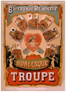 British Blonde Burlesque Troupe Clip Art