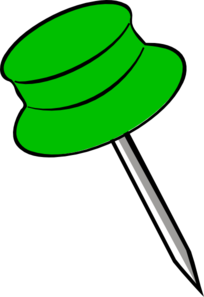 Pin Green Clip Art