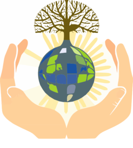 Hands Holding Earth Clip Art