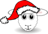 Santa Sheep Clip Art
