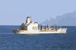 The Military Sealift Command Ship Usns Leroy Grumman (t-ao 195) Passes The Port Side Of Harry S. Truman Before Conducting An Underway Replenishment (unrep). Clip Art