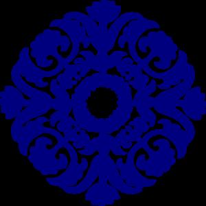 Paisley Tile Navy Blue Clip Art