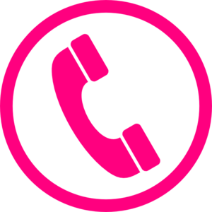Pink Phone Icon Clip Art
