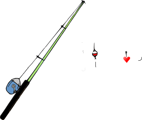 fishing pole heart clip art at clker com vector clip art online rh clker com