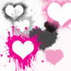 Brushes Damned Hearts Clip Art