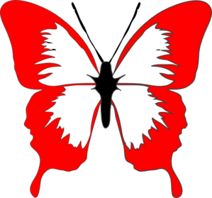 red butterfly clip art at clker com vector clip art online rh clker com free clip art of butterflies and flowers free clipart pictures of butterflies