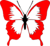 Red Butterfly Clip Art
