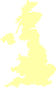 Uk Map Cream Clip Art