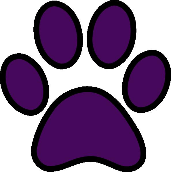 Purple Pawprint Black ...