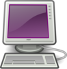 Computer With Purple Screen Clip Art