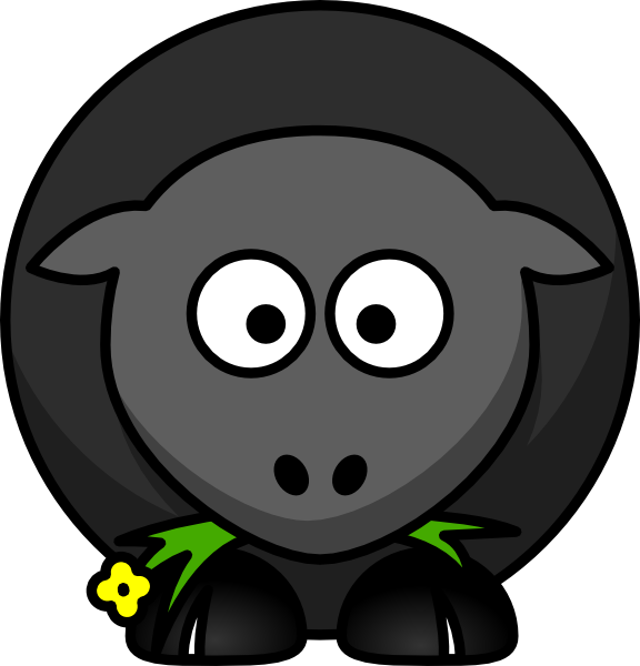 Black Sheep Clip Art at Clker.com - vector clip art online, royalty ...