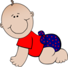 Red And Blue Polka Dot Baby Clip Art