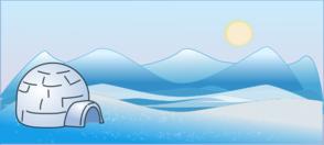 Cold Climate Scene Clip Art
