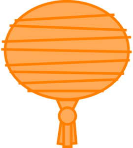 Orange Paper Lantern Clip Art