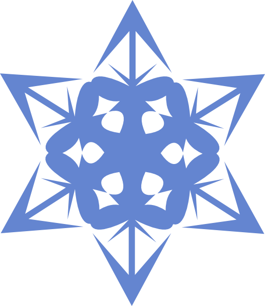 Blue Snowflake Clip Art at Clker.com - vector clip art online, royalty ...