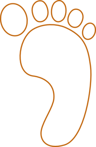 footprint clip art at clker com vector clip art online royalty