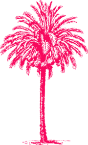 Fuscia Palm Tree Clip Art