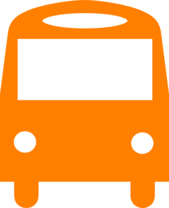 Orange Bus Clip Art