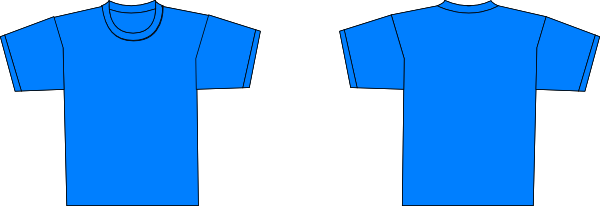 bluet shirt template clip art at clkercom vector clip