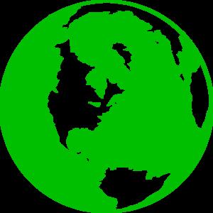 Dark Green Globe Clip Art at Clker.com - vector clip art online ...