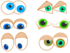 Cartoon Eyes Clip Art