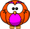 Orange And Purple Hoot  Clip Art