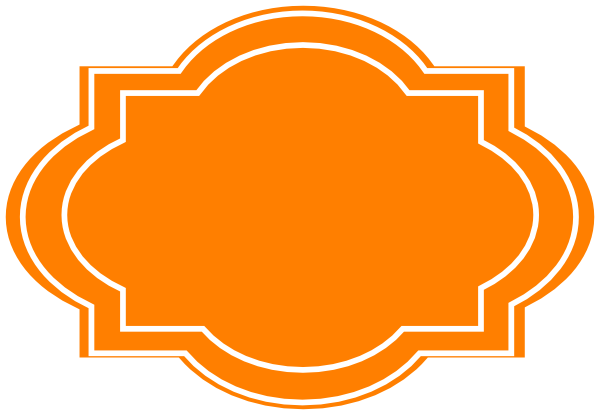 Decorative Label-orange Clip Art at Clker.com - vector ...