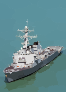 The Guided Missile Destroyer  Paul Hamilton Is Performing Combat Missions Clip Art