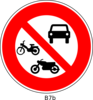 No Vehicle Sign Clip Art